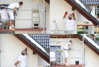 malowanie elewacji, malowanie dachów sampos 1